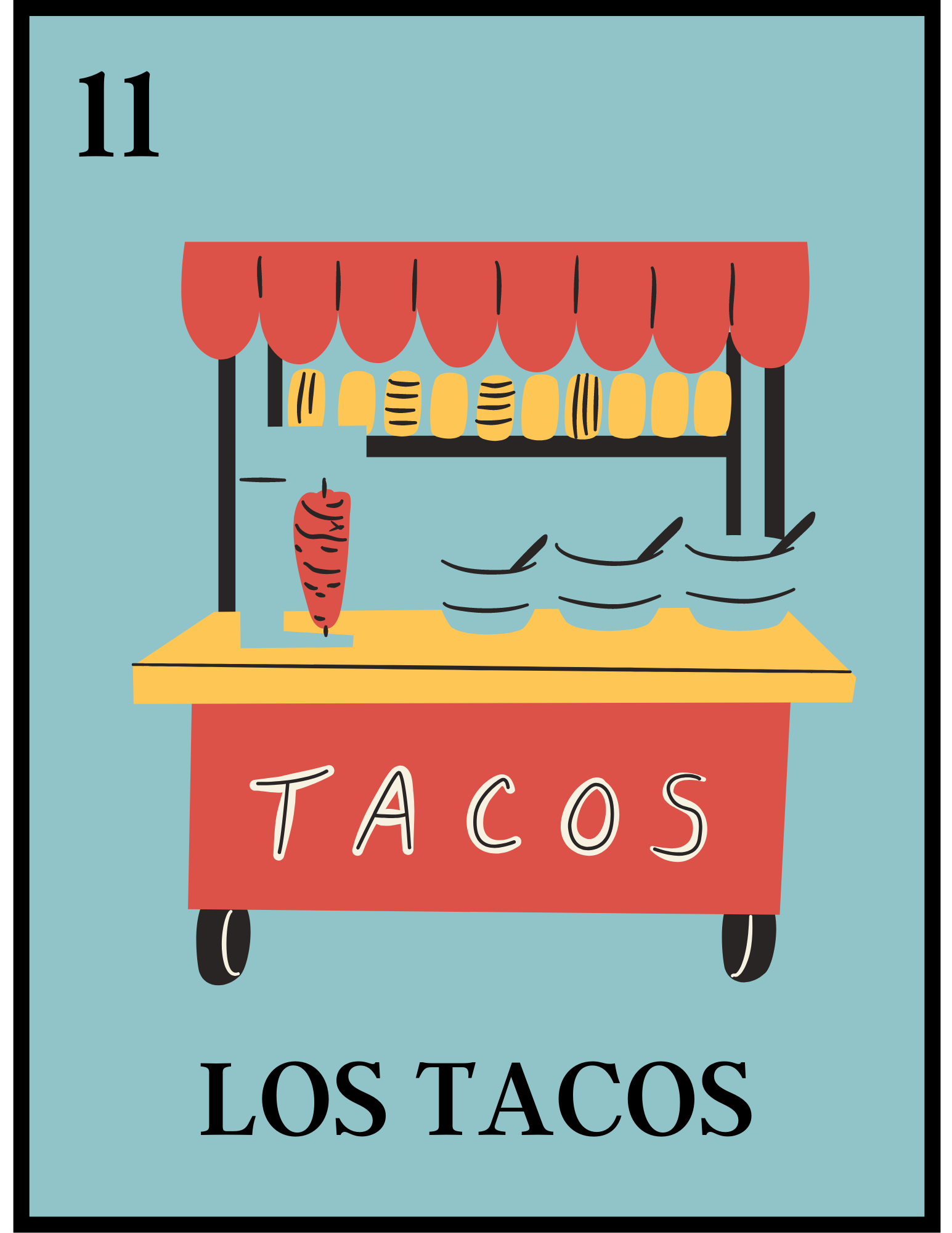 picture of a taco stand